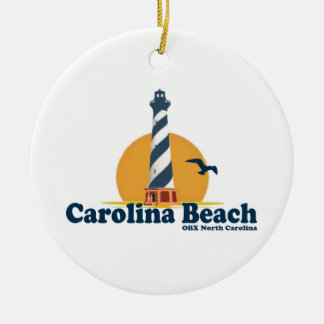Carolina Beach. Ceramic Ornament