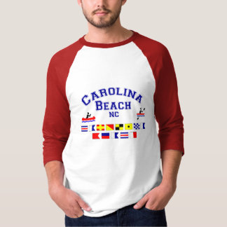 Carolina Beach NC Signal Flags T-Shirt