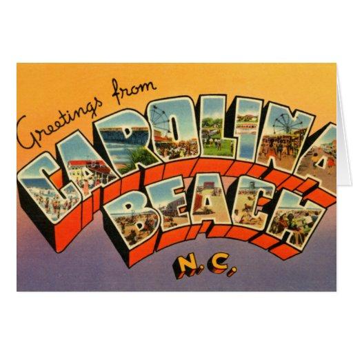Carolina Beach North Carolina Large Letter Greetin Greeting Cards