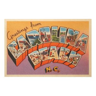 Carolina Beach North Carolina NC Vintage Postcard- Wood Wall Decor