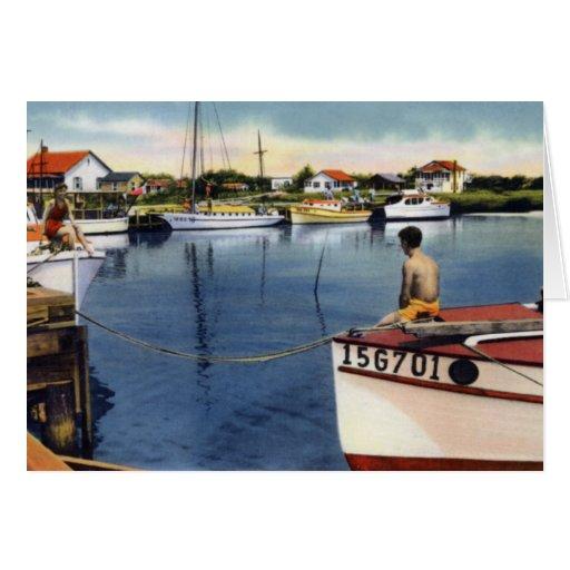 Carolina Beach North Carolina Yacht Basin Card