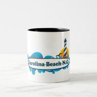Carolina Beach. Two-Tone Coffee Mug