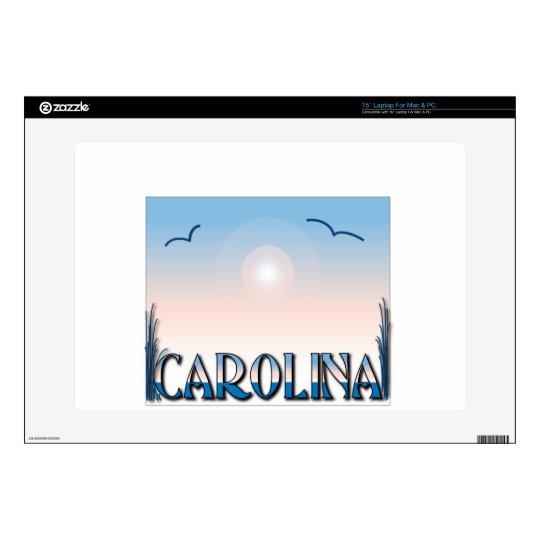 Carolina Beaches at Sunset Laptop Decal
