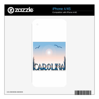 Carolina Beaches at Sunset Skin For The iPhone 4