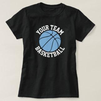 Carolina Blue Basketball Team, Player & Number Tee