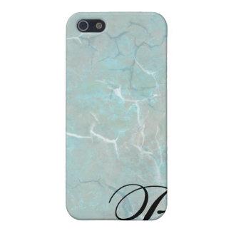 Carolina Blue Concrete Monogram iPhone Cases