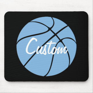 Carolina Blue Custom Basketball Mousepad
