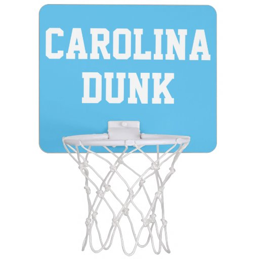 Carolina Blue Mini Basketball Goal Mini Basketball Backboard | Zazzle