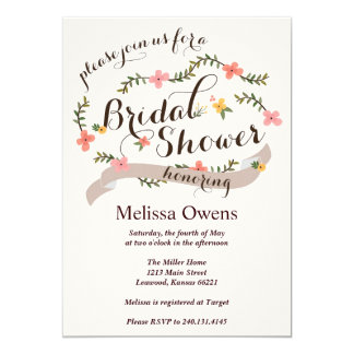 Carolina Bridal Shower Invitation