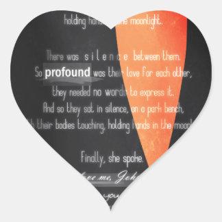 Carolina Crown 2013 - Lovers on a Park Bench Heart Sticker
