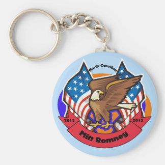 Carolina del Norte 2012 para Mitt Romney Llavero Redondo Tipo Pin