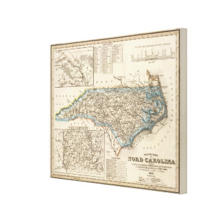 Carolina del Norte 3 Impresiones En Lona Estiradas