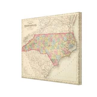 Carolina del Norte 4 Impresiones De Lienzo
