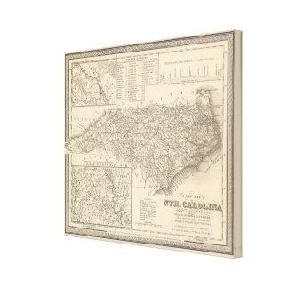Carolina del Norte 6 Impresión En Lona