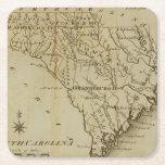 Carolina del Norte 8 Posavasos De Cartón Cuadrado