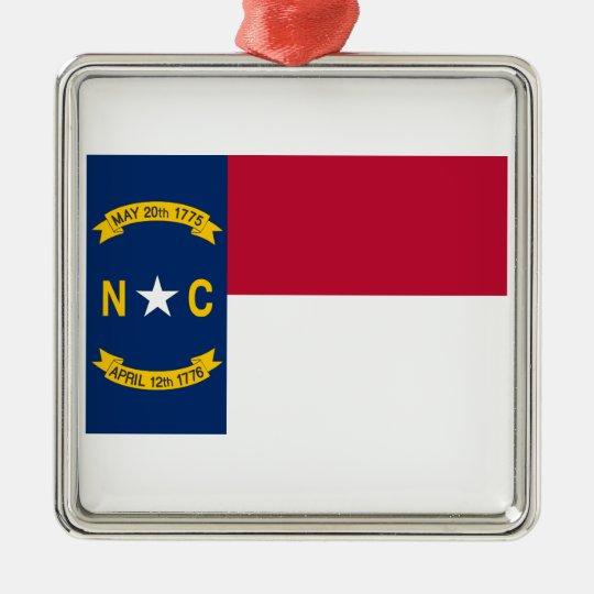 Carolina del Norte Adorno Navideño Cuadrado De Metal