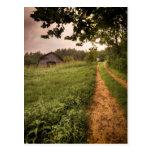 Carolina del Norte americana rural Tarjetas Postales