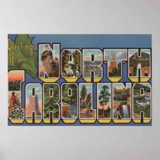 Carolina del Norte (Capital del Estado/flor) Impresiones