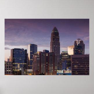 Carolina del Norte, Charlotte, visión elevada Póster