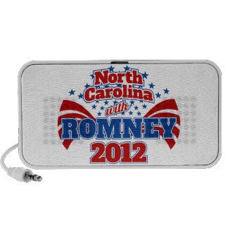 Carolina del Norte con Romney 2012 Portátil Altavoces