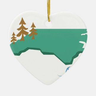 Carolina del Norte Adorno De Cerámica En Forma De Corazón