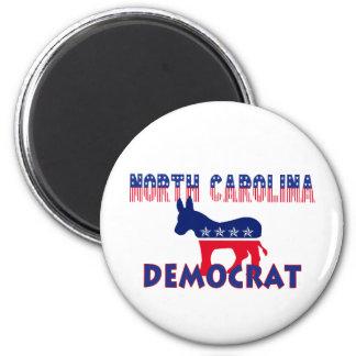 Carolina del Norte Demócrata Imán Redondo 5 Cm