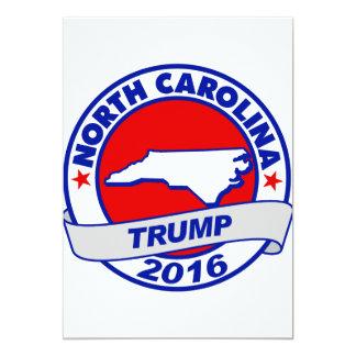 """Carolina del Norte Donald Trump 2016 Invitación 5"""" X 7"""""""