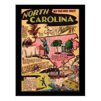 Carolina del Norte el estado del talón del alquitr Tarjeta Postal