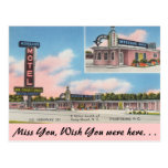 Carolina del Norte, el motel de Morgan, soporte Tarjeta Postal