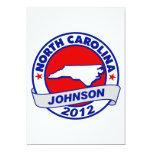 Carolina del Norte Gary Johnson Invitación 12,7 X 17,8 Cm