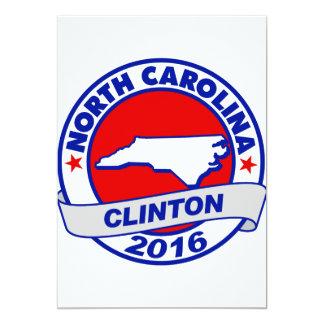 """Carolina del Norte Hillary Clinton 2016.png Invitación 5"""" X 7"""""""