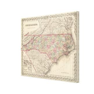 Carolina del Norte Impresion En Lona