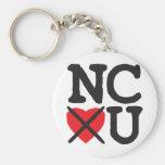Carolina del Norte le odia Llaveros Personalizados