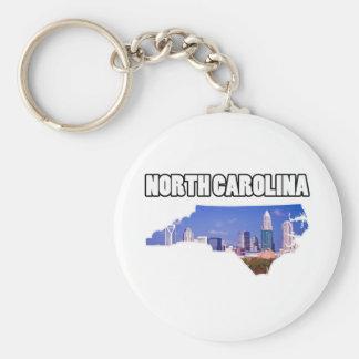 Carolina del Norte Llavero Redondo Tipo Pin