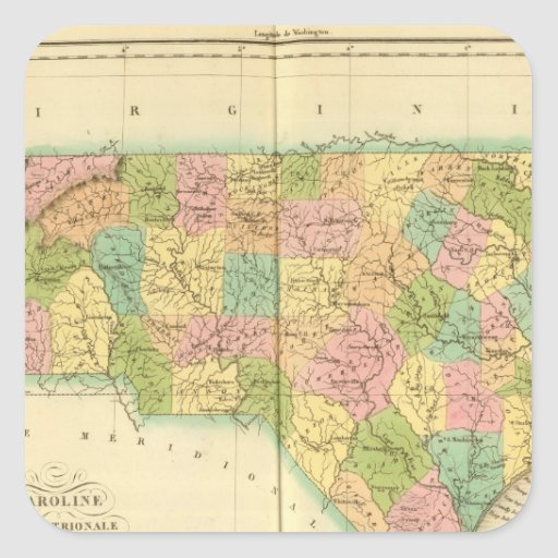 Carolina del Norte los E.E.U.U. Pegatina Cuadrada
