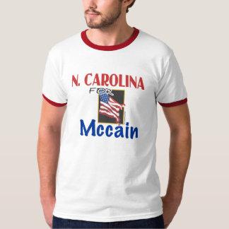 Carolina del Norte para la camiseta de John McCain Playera