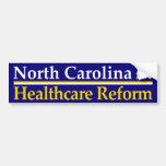 Carolina del Norte para la reforma de la atención  Pegatina De Parachoque