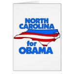 Carolina del Norte para Obama 2012 Felicitación