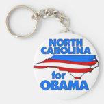 Carolina del Norte para Obama 2012 Llavero Personalizado