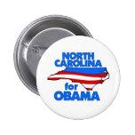 Carolina del Norte para Obama 2012 Pins