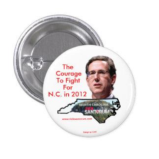 Carolina del Norte para Rick Santorum Pin