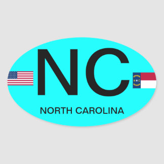 Carolina del Norte * pegatina oval europeo