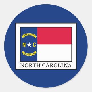 Carolina del Norte Pegatina Redonda
