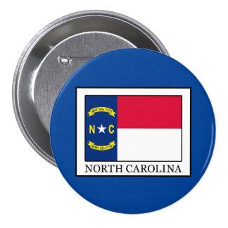 Carolina del Norte Pin Redondo De 3 Pulgadas