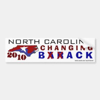 Carolina del Norte que cambia detrás 2010 Pegatina Para Auto
