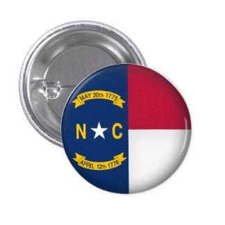 Carolina del Norte redonda Pin Redondo 2,5 Cm
