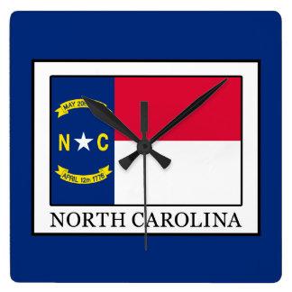 Carolina del Norte Reloj Cuadrado