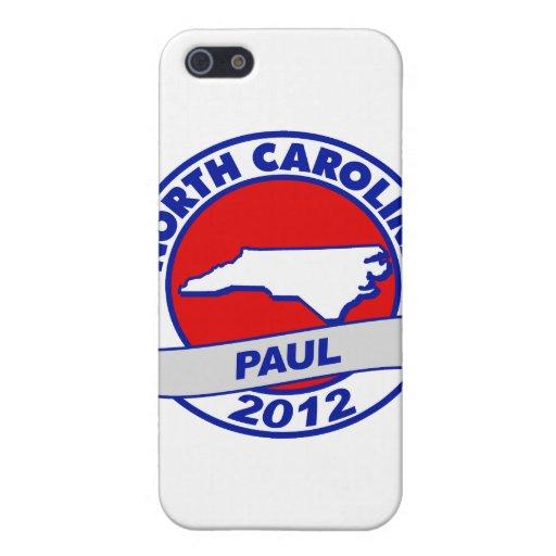 Carolina del Norte Ron Paul iPhone 5 Carcasas