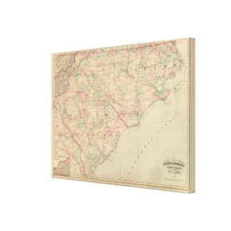 Carolina del Norte y Carolina del Sur 2 Lona Envuelta Para Galerias