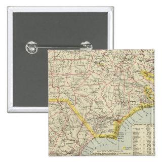 Carolina del Norte y Carolina del Sur 2 Pin Cuadrado